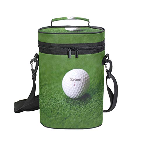 FAJRO Wine Carrier Tote Bag Play Golf Two Bottle Insulated Wine/Water Bottle Holder for Travel with Carry Handle