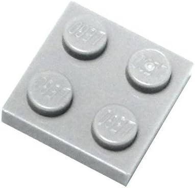 LEGO Dark Gray (Dark Stone Grey) 2x2 Plate x100