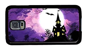 Hipster best Samsung Galaxy S5 Case Halloween Spooky House PC Black for Samsung S5