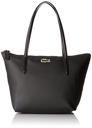 Lacoste Women's L.12.12 Concept Medium Shopping Bag, Black, One Size