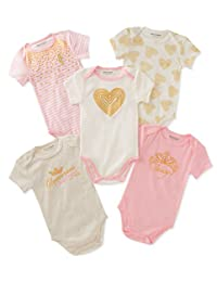 Juicy Couture Baby-Girls Baby Girls 5 Packs Bodysuit