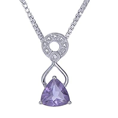 Amazon sterling silver amethyst pendant 1 ct with 18 inch sterling silver amethyst pendant 1 ct with 18 inch chain aloadofball Image collections