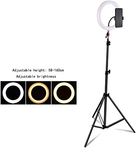 Mobile Phone Live Fill Light High-Definition Beauty Round Floor Lighting Props Light Skinny Face-Lift Photography Pink Self-Timer Photo Light Soft Anchor Anchor Photo Artifact Led Camera Light 0110