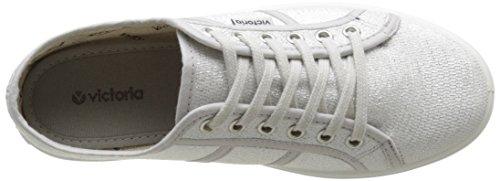 Plata Argento Donna Lurex da Sneakers Basket Tejido 14 Victoria x6qP48w