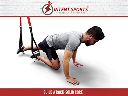 Bodyweight Fitness Resistance Trainer Kit with Pro Straps for Door, Pull up Bar or Anchor Point. Lean, Light, Extra Durable for Complete Body Workouts. E-Book ''12 Week Program'' (Patent Pending) by INTENT SPORTS (Image #4)
