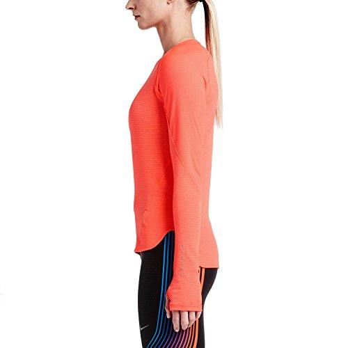 2edd5b8bb ... Nike Womens Dri-Fit AeroReact Running Shirt 686957 Bright Crimson ...