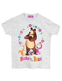 Masha and the Bear Girls' Masha and the Bear T-Shirt