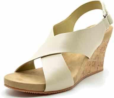 29b39cc10afd TOETOS Solsoft New Women s Casual Open Toes Mid Heels Platform Wedges  Summer Sandals