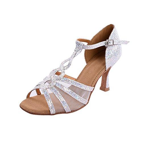 Kevin Forma, Senhoras Dançando Sapatos De Prata - Tamanho: 35.5