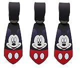 Super Cute Kawaii Cartoon Silicone Travel Luggage ID Tag Tie for Bags (3 Mickey Luggage Tie)