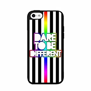 Dare to Be Different- 2-Piece Dual Layer Phone Case Back Cover iPhone 4 4s by icecream design