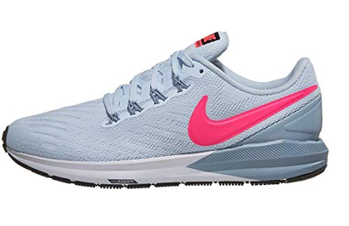 Nike Womens Air Zoom Structure 22 Run Shoes AA1640 Half Blue/Pink/Obsidian7.5