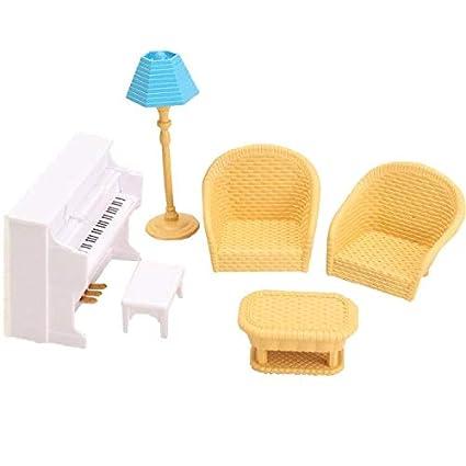 Amazon.com: JWRAC - Juego de accesorios para casa de muñecas ...