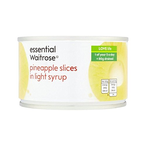 Pineapple Slices in Syrup essential Waitrose 227g - Pack of 6