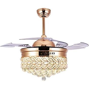 Bella Depot Gold Crystal Ceiling Fan with Lights [Modern