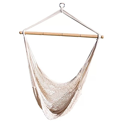Net Swing Hammock (Beachcrest Home Indoor Patio Hammock - Crowell Rope Cotton Chair Hammock - Crafted From Cotton- Can Be Hung From Ceiling - Holds Up To 220 Lbs)