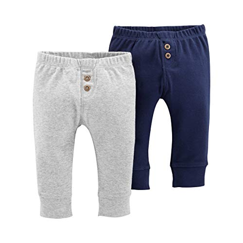 - Carter's Baby Boys 2-Pack Pull-On Pants (Navy/Heather Grey, 18 Months)