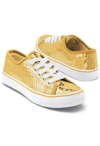 Balera Sequin Low Top Dance Sneakers Gold 8AM for $<!--$33.70-->