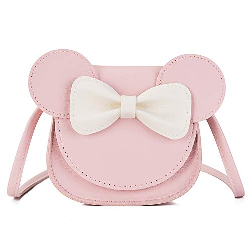 Little Girls Mini Crossbody Shoulder Bag Coin Purse Handbag with Cute Mouse Ear Bowknot