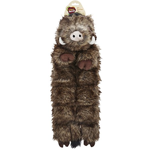 - Leaps & Bounds X-Large Wildlife Squeaker Mat Toy, Multi-Color