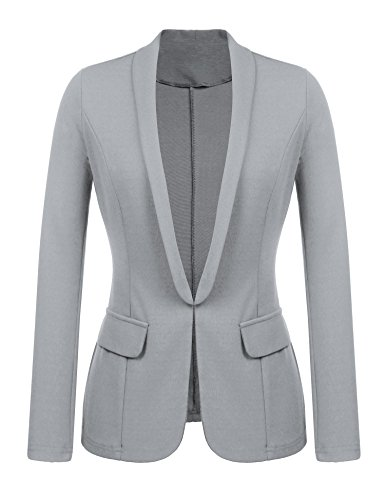 Kaimu Women's Casual Long Sleeve Open Front Blazer Work Office Cardigan Classic Jacket ()