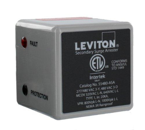Leviton 55480-ASA 3 Phase 277/480 V WYE or 3 Phase 240 V Delta Type 1 Surge Arrester