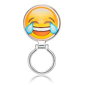 TUSHUO Interesting Internet Phiz Image Magnetic Clip Eyeglasses Holder (Risus)