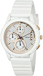 Fossil Women's ES3981 Modern Pursuit Chronograph White Silicone Watch