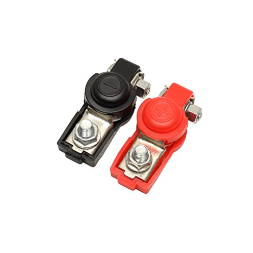 Terminal Battery 1 (1 Pair Car Battery terminal connector Clamp Clips Negative Positive for Auto Car Truck(Red+Black))