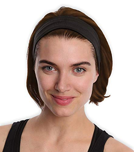 Running Yoga Headbands for Women & Men - Moisture Wicking & Non-Slip Sweat Exercise Headband - Performance Stretch & Ideal for Sports, Workout, Fashion & Travel