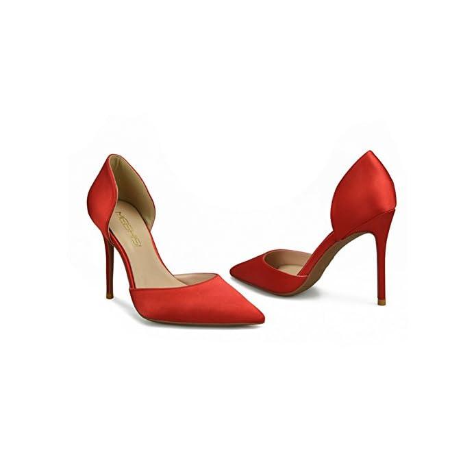 Zwf Shoes Scarpe Da Donna Tacco Alto Caviglia Rosso Lavoro Festa Elegante Taglia 35-45