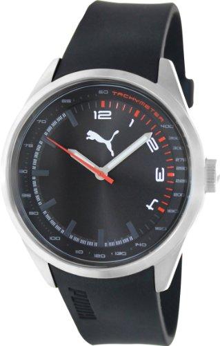 Puma Men's PU103481001 Black Silicone Analog Quartz Watch with Black Dial