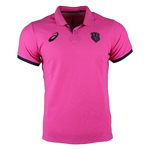Stade Francais Rugbyメディアポロ2017 – スポーツピンク B076CP744P  Small