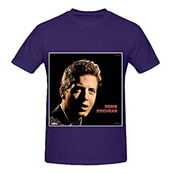 Eddie cochran eddie cochran hits mens crew for Amazon custom t shirts
