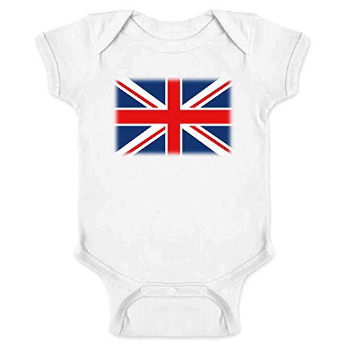 Union Jack Flag White 6M Infant Bodysuit