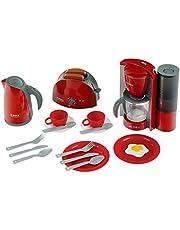 Theo Klein 9564 Bosch ontbijtset|Keukenset bestaande uit broodrooster, koffiemachine, waterkoker en nog veel meer|Afmetingen verpakking: 44,5 cm x 13 cm x 34 cm|Speelgoed voor kinderen vanaf 3 jaar