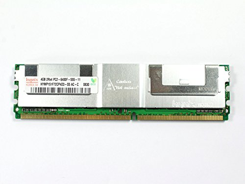Hynix 4GB PC2-6400 DDR2-800MHz ECC Fully Buffered CL5 240-Pin DIMM Dual Rank Memory Module HYMP151F72CP4D3-S5-AC-C (240 Ddr2 Memory Pin Buffered)