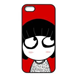 lovely girl red background personalized creative custom protective phone case for Iphone 6 plus 5.5