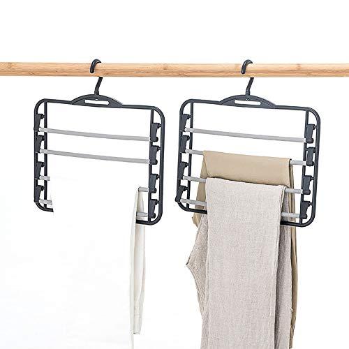 Ybriefbag Ropa Pantalones Colgadores-Capas múltiples Pantalón Perchas de Gancho Pantalones de Brazo oscilante Perchas...