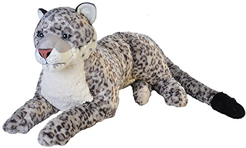Wild Republic Jumbo Snow Leopard, Giant Stuffed Animal, Plush Toy, 30