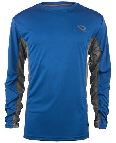 Mojo Vented Wireman Contrast Panels Performance Shirt (ROYAL