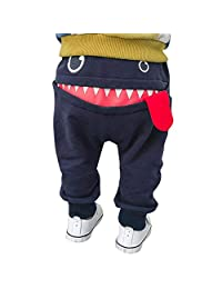 Infant Toddler Baby Girls Boys Fall Winter Warm Harem Pants 6Months-3Years Cartoon Shark Tongue Trousers