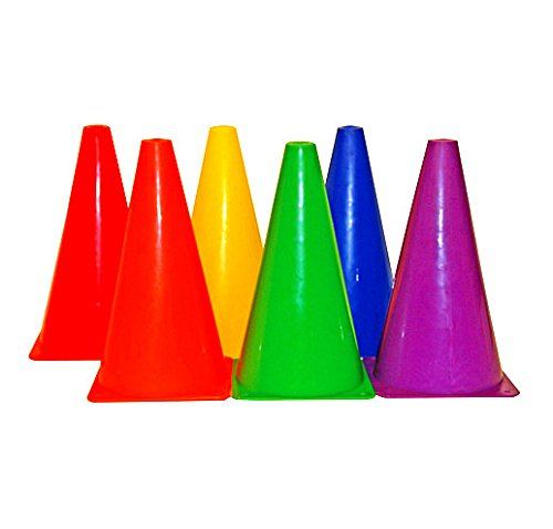 Playscene Training Cones - Set of 6 Multicolored 9