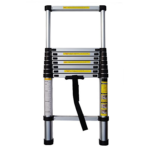 YiHai 8.5FT Portable Folding Aluminum Telescoping Step Ladder Collapsible Extendable Ladder by YiHai Furniture