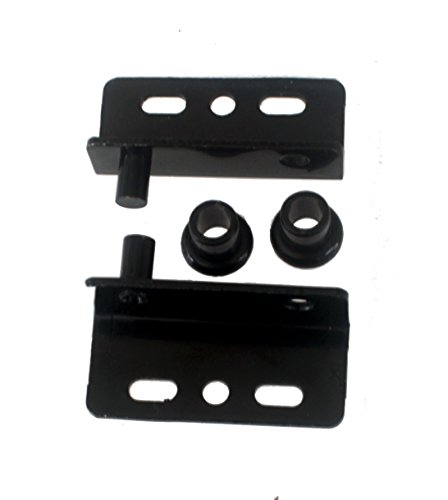 Black Pivot Hinges with Bushing Top and Bottom 2 Sets - Concealed Pivot Hinge