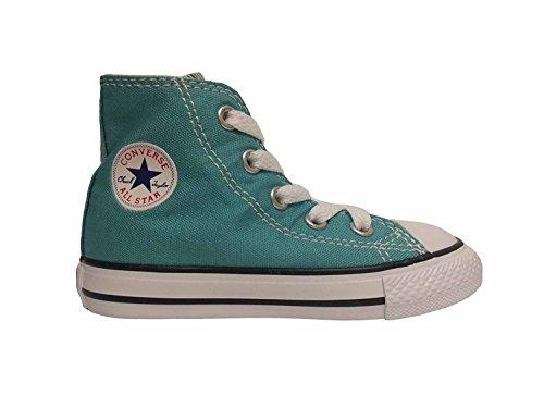 CONVERSE Chuck Taylor All Star Season Hi - Zapatillas de tela infantil Aegean Aqua