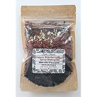 Organic Elderberry Plus+ DIY Syrup Making Kit - Dried Black Elder berry - Elderberries - Cloves - Ginger - Cinnamon Stick - Goji Berries - Echinacea - Astragalus - Rose Hips
