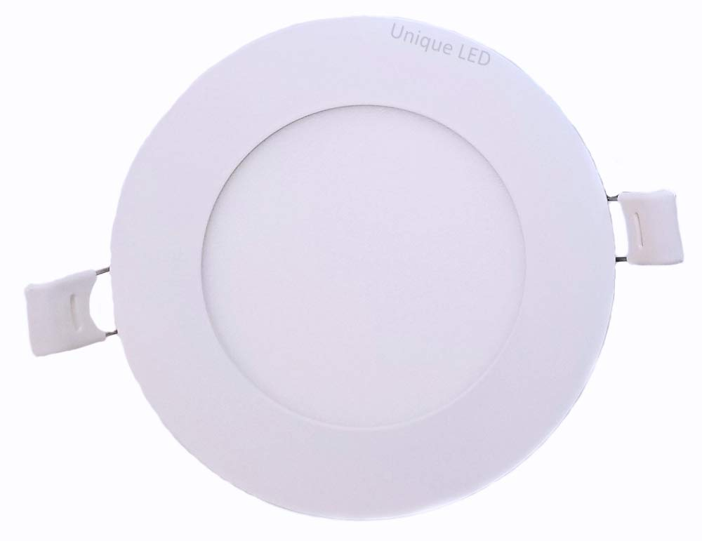DawnRay, Pack of 2: 4 LED Pot Light, 9 Watt 500 Lumens, 5000K, Dimmable, Safe for Wet Locations, 50 000 Hours, Energy Star Certified, cETLus Listed, Type IC Rated, CSA USD Approved. 5 Year Manufacturer Warranty. (2, 5000K Daylight White)