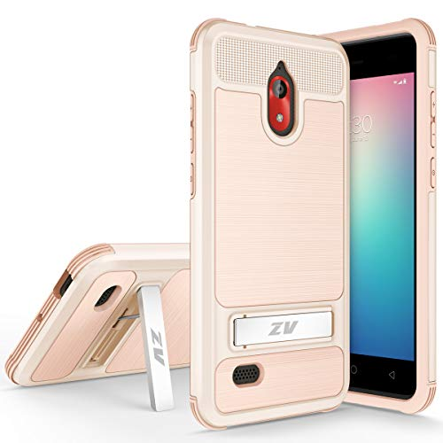 for Coolpad Legacy Go Case Military Grade Kickstand Heavy Duty Rugged Slim Durable Hybrid Shockproof Phone Cover Compatible with Coolpad 3310a (Gold) ()