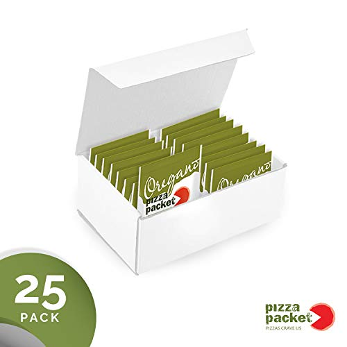 (Pizza Packet - Individual Gourmet Pizza Seasoning Packets - Oregano - 25 Pack of Single Serve Portable Pouches - Kosher )